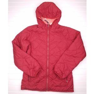 Patagonia puff reversible jacket hooded red xs